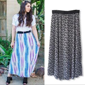 LuLaRoe Lucy Pineapple Maxi Skirt
